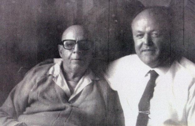 Solari Parravicini y el investigador Sigurd Von Wurmb